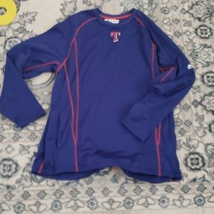 Texas rangers authentic majestic pullover